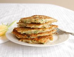 Zucchini Potato Pancakes-These were so good!  Even my picky husband liked them.  :)