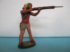 Elastolin Masse Indianer stehend mit Gewehr, Serie 7 cm. | eBay