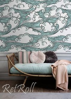 Windy Sky removable wallpaper repositionable nursery – Top Motorrad And Wallpaper Home Design, Interior Design, Design Interiors, Design Design, Smooth Walls, Self Adhesive Wallpaper, Decorating Your Home, Wall Murals, Decoration