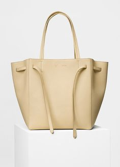 Small Cabas Phantom with Belt in Soft Grained - Céline