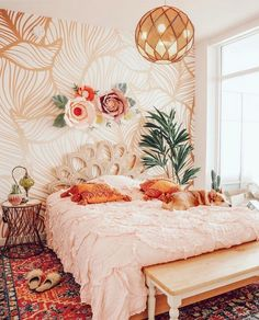 Create your Dream Bohemian Bedroom! - The Style Index - Create your Dream Bohemian Bedroom! – The Style Index You are in the right place about plant decor - Decor, Bedroom Design, Room Inspiration, Bohemian Bedroom Decor, Bedroom Decor, Home Decor, House Interior, Room Decor, Apartment Decor