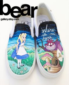 Hey, I found this really awesome Etsy listing at http://www.etsy.com/listing/152272560/custom-vans-alice-in-wonderland