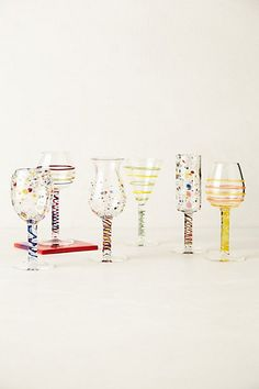 Dot-Dash Stemware #anthropologie