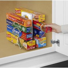 Tips to Organize Every Room in the House - Adjustable Plastic Wrap, Wax Papr and Storage Baggie Organizer and Dispenser Kitchen Wrap, Kitchen Ikea, Small Kitchen Appliances, Cool Kitchens, Messy Kitchen, Kitchen Dining, Kitchen Cabinets, Base Cabinets, Kitchen Cabinet Organization