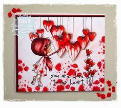 "Tiddly Inks ""Wryn - Heartfelt Love"" - Valentine's card"