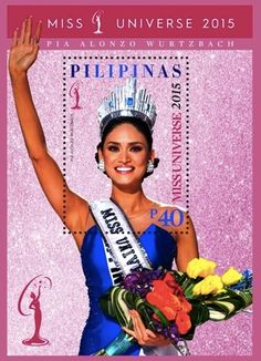 Rainbow Stamp Club: Miss Universe 2015 on new Philippine stamp..