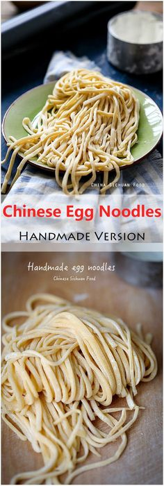 Chinese Egg Noodles- Handmade Version | China Sichuan Food