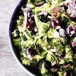 Light Marinated Broccoli Salad with Grapes | Make Ahead Mondays