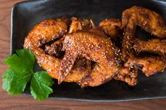 Korean Fried Chicken - Crackly skinned Korean Fried Chicken (양념치킨) with a fiery sweet glaze.