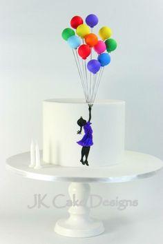 Silverstein and balloons birthday cake
