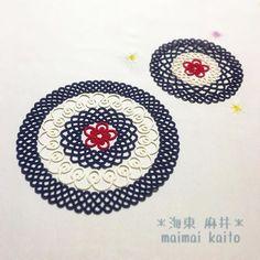 ' Ume ' #tatting #lace #original #originaldesign #maimaikaito #doily #motif #japanese #japan #タティングレース #オリジナルデザイン #ウメ #japanesestyle