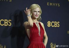 2f227f7e1857 Nicole Kidman 69th Emmy Awards Red Carpet Gowns 2018 Sexy Deep V Neck Ankle Length  Satin