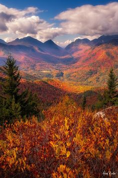 Autumn view from Mt. Hopkins in the Adirondack State Park, NY (by Adam Baker / 500px)
