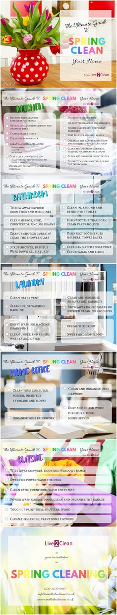 Here is the second part of our ultimate guide to spring clean