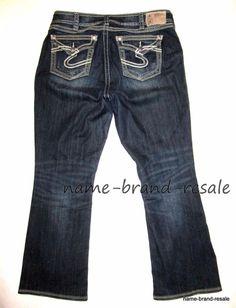dd7e81ff3e SILVER SUKI SURPLUS Jeans Womens PLUS 14 x 30 Distressed Denim 1X TORRID