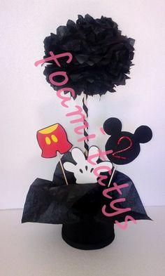 Centro de mesa Mickey negro
