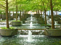 Fountain Plaza. Dan Kiley. Ah-mazing.