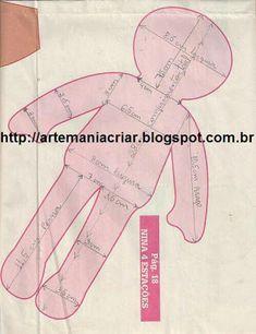 Resultado de imagem para moldes para rag doll
