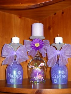 wine glass candle holders easter - Google Search                                                                                                                                                                                 More