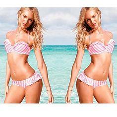 Women Acrylic Spandex Padded Bras Bikinis – EUR € 14.66