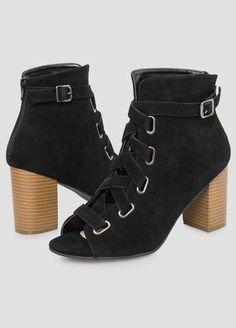 871d9c80fdd Criss Cross Ankle Bootie - Wide Width Wide Width Shoes