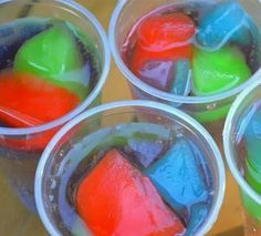 Koolaid ice cubes in sprite= color and flavor changing drink