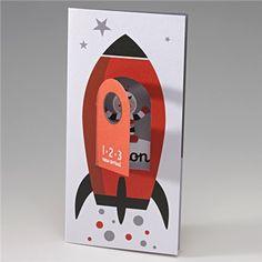 Geboortekaartje Belarto #geboortekaartje #jongen #ruimtevaart Ook een hele leuke binnenkant!