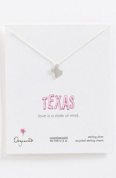 Dogeared 'State of Mind - Texas' Pendant Necklace - if anyone wants to get this for me, my birthday is aug. 4th