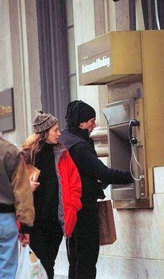 1995-02-26: JFK Jr. and Carolyn Bessette, in New York City.