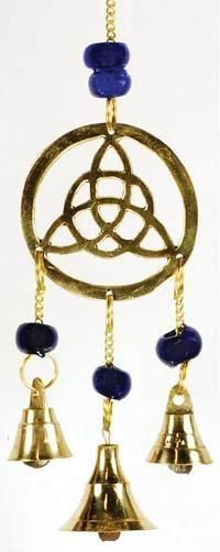 Three Bell Triquetra Wind Chime  https://wiccamovement.com/collections/statues-dream-catchers-wall-scrolls-windchimes/products/three-bell-triquetra-wind-chime