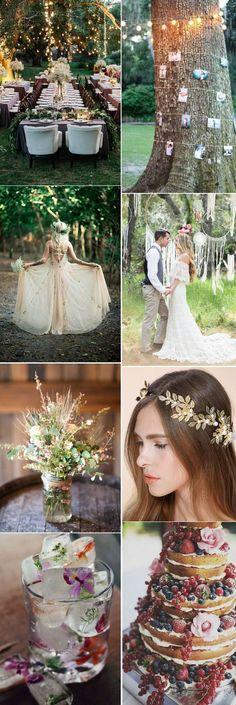elegant spring bohemian wedding ideas #WeddingIdeasDream