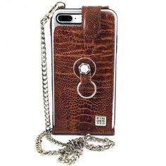 Funda iPhone 8 Plus elegante piel de pata de avestruz Marrón. Finger 360 #funda #avestruz #anticaidas #anillo #Finger360 #piel #marron #8plus #iphone8plus