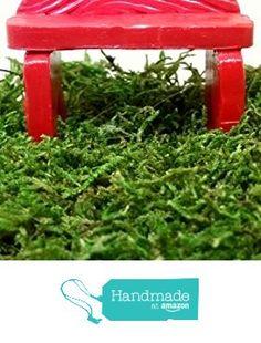 Red miniature bench. Fairy garden accessories,dollhouse, terrarium decor. from Puppy Love Miniature https://www.amazon.com/dp/B06XJP363K/ref=hnd_sw_r_pi_dp_zrB0ybR0XGPB5 #handmadeatamazon