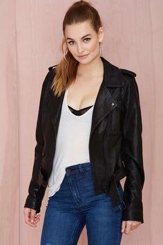 Nasty Gal Leather - The Clash Moto Jacket   Shop Jackets + Coats at Nasty Gal