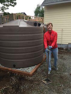 2 X 1320 tanks, 2 X 265 tanks and rain garden. West Seattle. #rainwaterharvesting