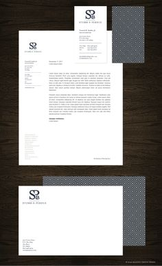 Stubbs & Perdue stationery package by Nina Randone, via Behance. #businesscard #letterhead #design