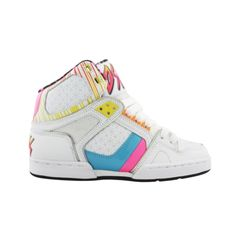 Shop for Womens Osiris NYC 83 Ultra Skate Shoe in WhitePinkStars at Journeys Shoes. Shop today for the hottest brands in mens shoes and womens shoes at Journeys.com.High-top skate shoe from Osiris featuring patent accents and a padded tongue and collar for comfort.Please note that this shoe runs small; please order one size up.