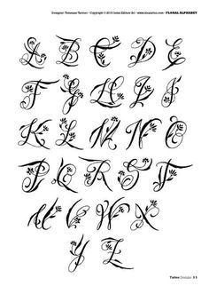 Initial tattoo initial tattoo – Initials tattoo Initials tatto… - Famous Last Words Tattoo Fonts Alphabet, Tattoo Lettering Fonts, Hand Lettering Alphabet, Doodle Lettering, Typography, Calligraphy Alphabet, Cool Tribal Tattoos, Pretty Tattoos, Initial Tattoo