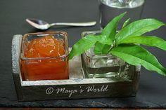 Maya's World: Dulceata de piersici (cu bucati de fructe) Maya, Exotic Food, Preserves, Cherry, Goodies, Perfume Bottles, Cooking Recipes, Sweets, Modul