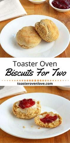 Toaster Oven Biscuits For Two, a simple 3-ingredient recipe for light and fluffy toaster oven baked biscuits. via @toasterovenlove