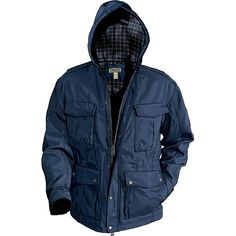 Men's Flannel-lined Fire Hose Field Coat - Duluth Trading