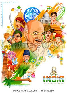 illustration of Tricolor India background with Nation Hero and Freedom Fighter like Mahatma Gandhi, Bhagat Singh, Subhash Chandra Bose for Independence Day Independence Day Drawing, Happy Independence Day Images, Independence Day Wallpaper, Independence Day India, Incredible India Posters, Amazing Photos, Earth Day Drawing, Indian Flag Wallpaper, Freedom Fighters Of India