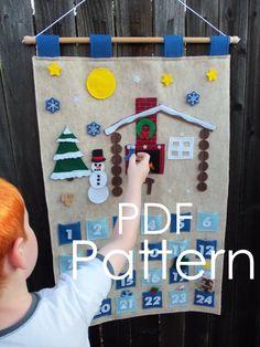 Build-A-Scene Christmas Countdown Advent Calendar PDF Pattern on Etsy, $8.00