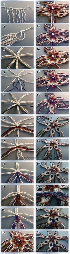 Not really crochet but it is gorgeous- using knots like you do when making friendship bracelets