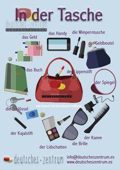 Tasche Deutsch Wortschatz Grammatik Alemán German DAF Vocabulario