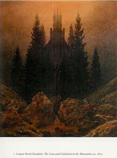 The Cross and Cathedral in the Mountains -Caspar David Friedrich