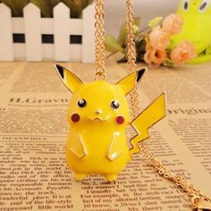 Pokemon Pikachu Pendant Charm Necklace | eBay