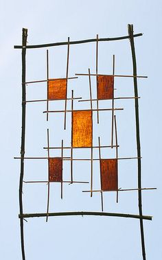 birch bark and twigs from 'land artist' Richard Shilling.