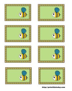 free printable baby shower labels with honey bee