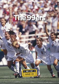 """""""And it was like it was meant to be, that group, to do this incredible thing together and make all these changes and start this wave. I don't think that can ever be duplicated."""" - Michelle Akers #NineforIX #The99ers"""